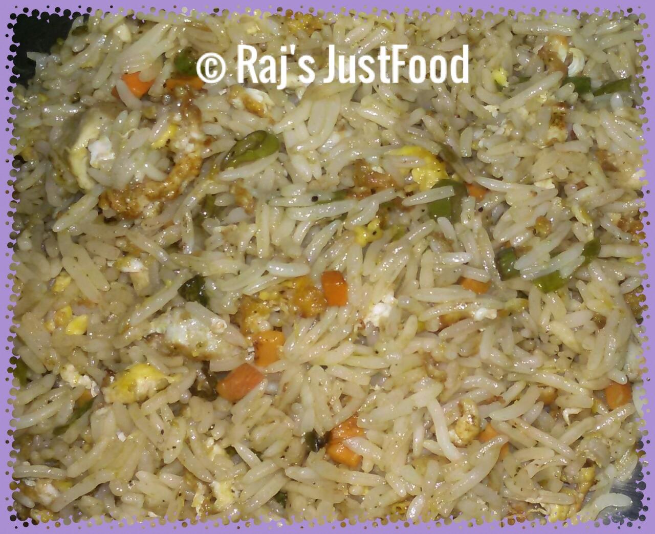 how to make egg rice
