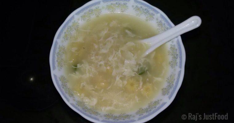 Egg Chicken Corn Soup Recipe| Healthy Soup Recipe [Oil Free]