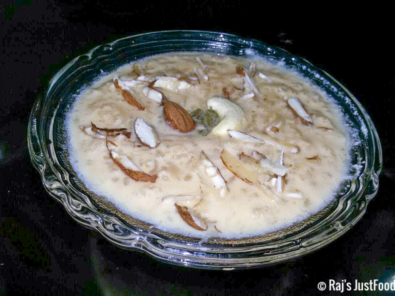 Nolen Gurer Payesh Bengali Recipe