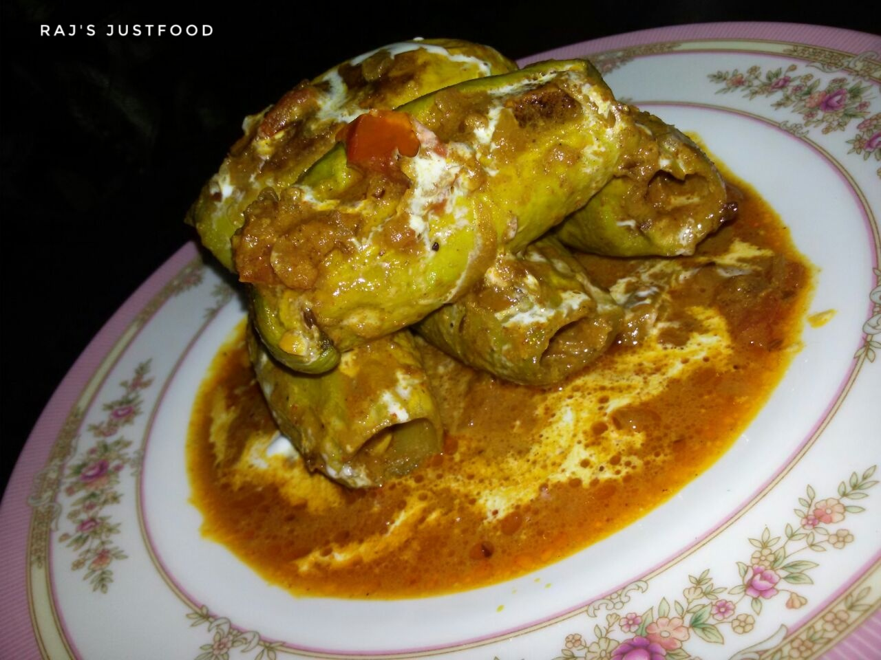 prawn stuffed pointed gourd